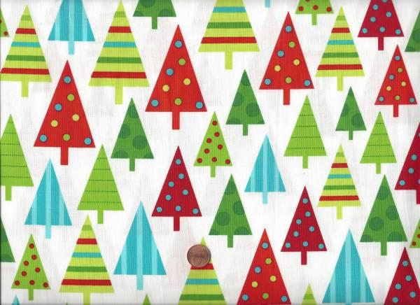 x-mas Jingle Tannenbäume weiß bunt