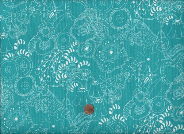 Alison Glass Sun Print Floral türkis