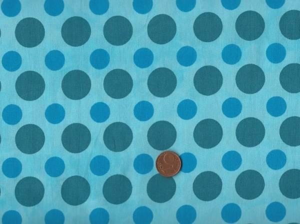 Batikdruck Dots türkis