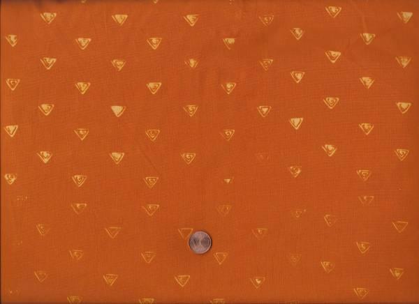 me & you Batik Dreiecke orange