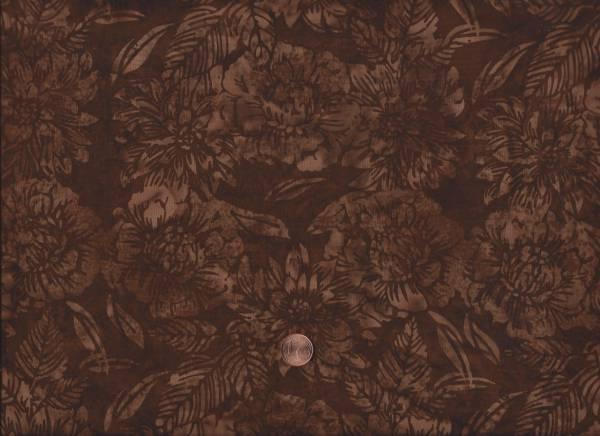 Batik floral braun