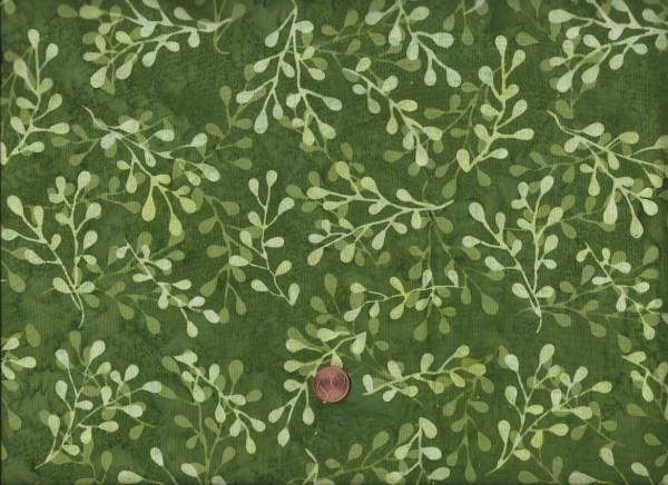 Batik grün Zweige