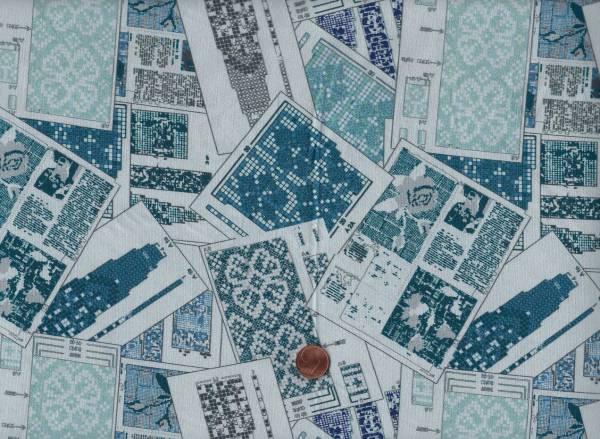 Knitting Nook blau Musterkarten