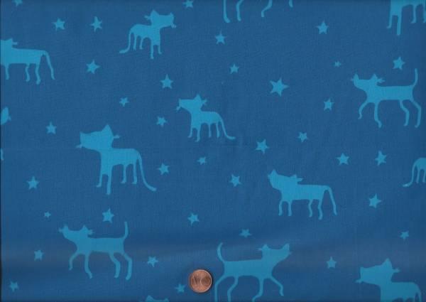 me & you Batik Cats blau-türkis