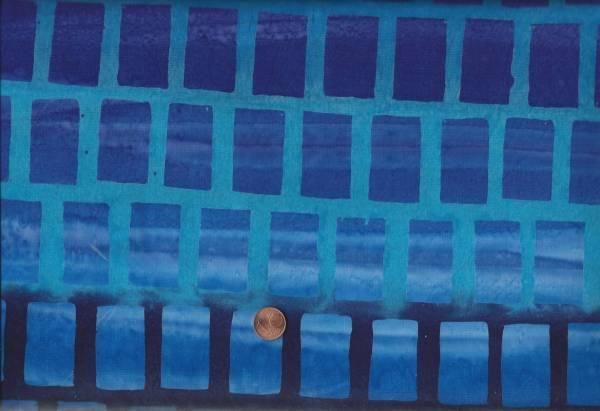 Batik Farbverlauf Quadrate blau türkis