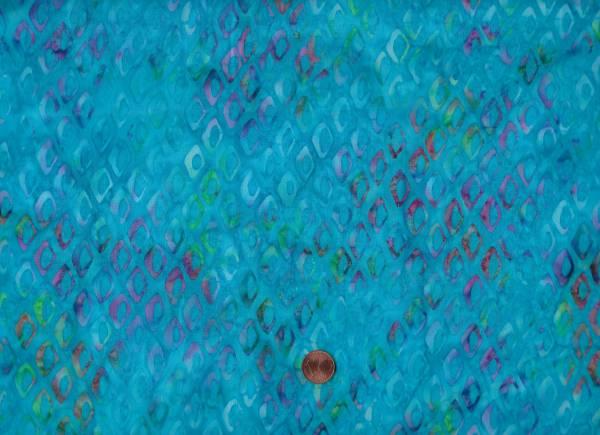 Batik Rauten türkis-bunt