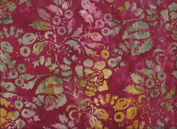 Batik a splash of color Blumen rot