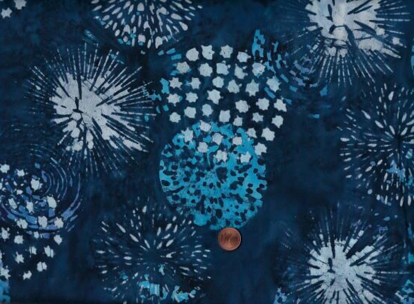 Batik Horizon Feuerwerk d-blau