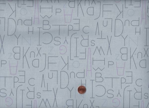 Moji Palette Buchstaben h.grau