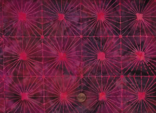Batik Sonnen raspberry