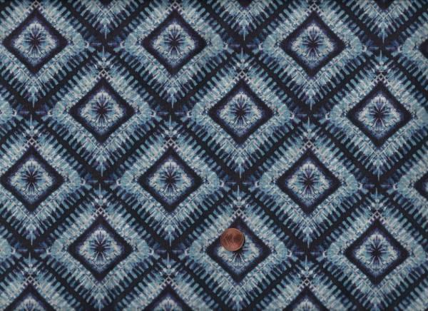 Shibori blau Quadrate